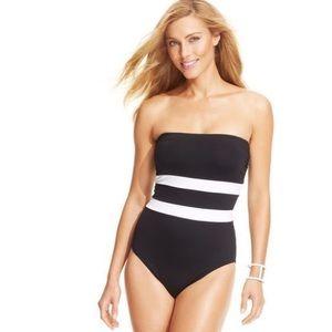 Lauren Ralph Lauren One-Piece Bandeau Swimsuit